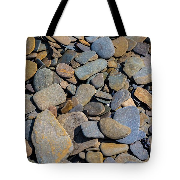 Colorful River Rocks Tote Bag by Photographic Arts And Design Studio