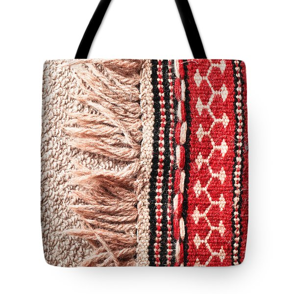 Colorful Rug Tote Bag by Tom Gowanlock