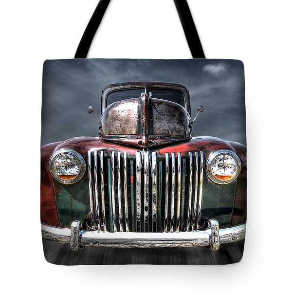 Colorful Rusty Ford Head On Tote Bag