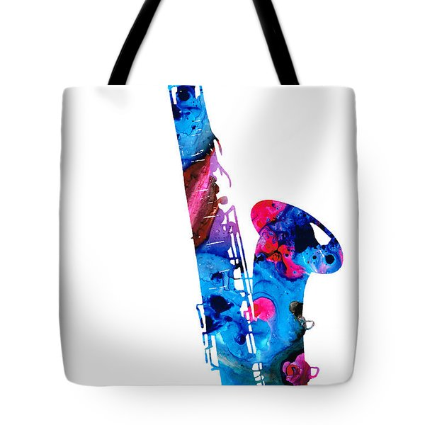 Colorful Saxophone 2 By Sharon Cummings Tote Bag