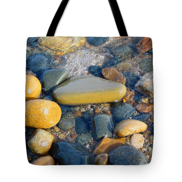 Colorful Shore Rocks Tote Bag