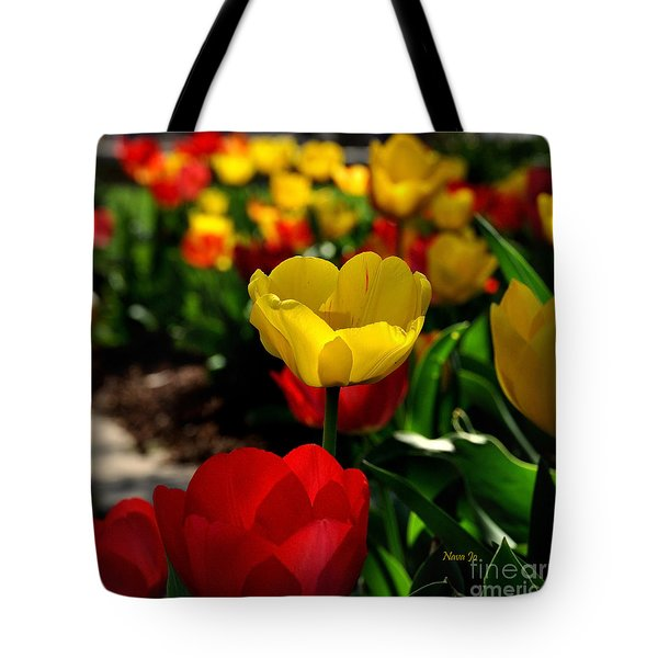 Colorful Spring Tulips Tote Bag by Nava Thompson