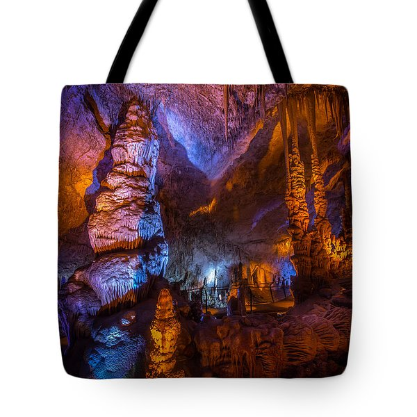 Colorful Stalactite Cave Tote Bag