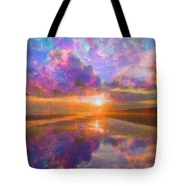 Colorful Sunset By Jan Marvin Tote Bag