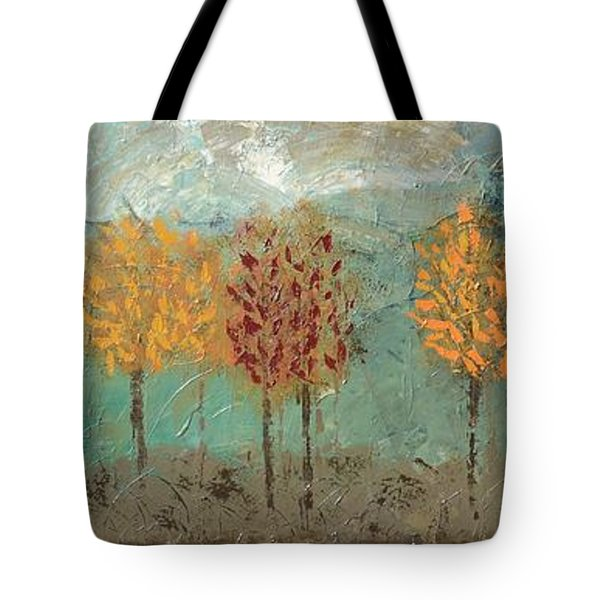 Colorful Trees Tote Bag by Linda Bailey