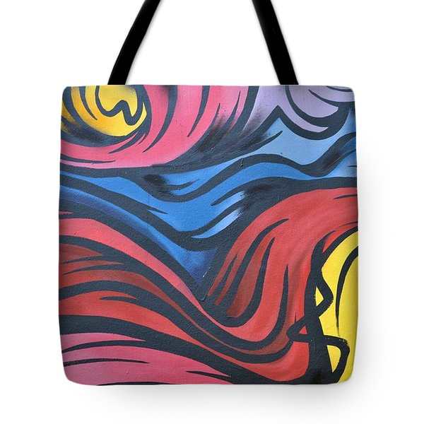 Tote Bag featuring the photograph Colorful Urban Street Art From Singapore by Imran Ahmed