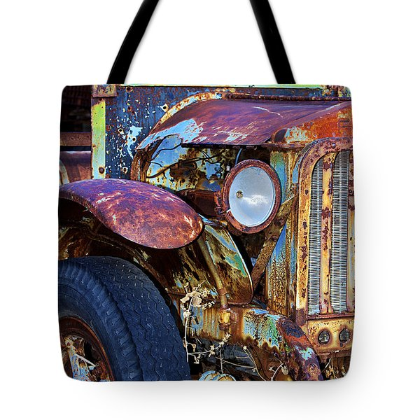 Colorful Vintage Car Tote Bag by Phyllis Denton