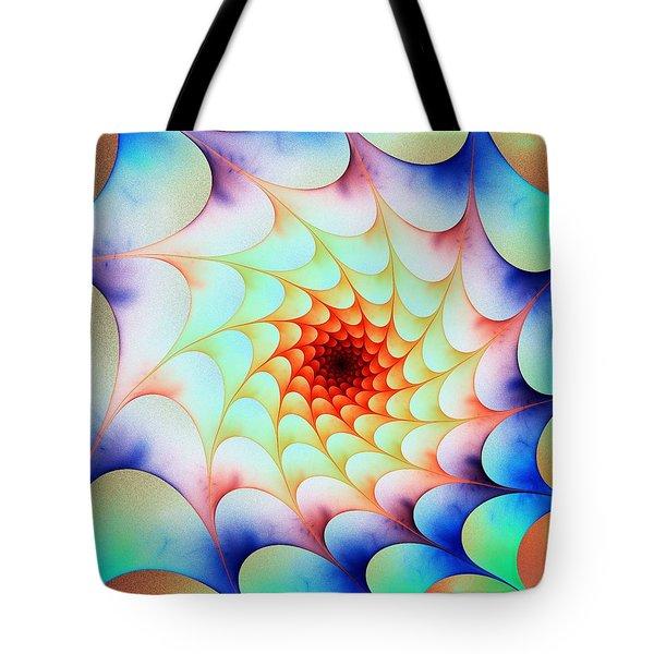 Tote Bag featuring the digital art Colorful Web by Anastasiya Malakhova