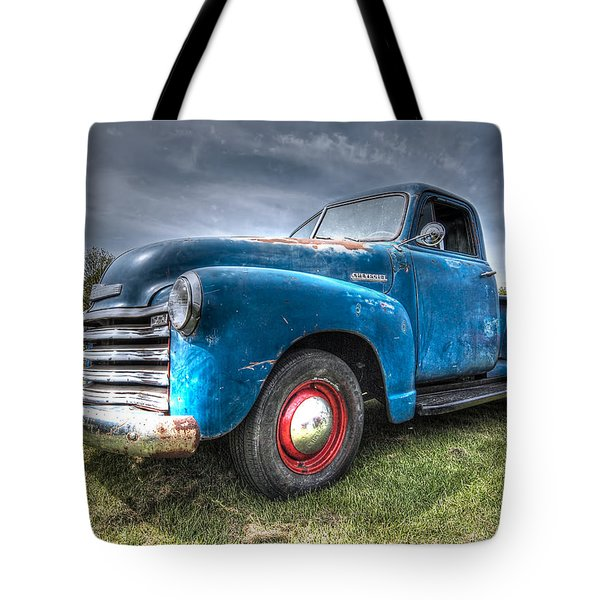 Colorful Workhorse - 1953 Chevy Truck Tote Bag