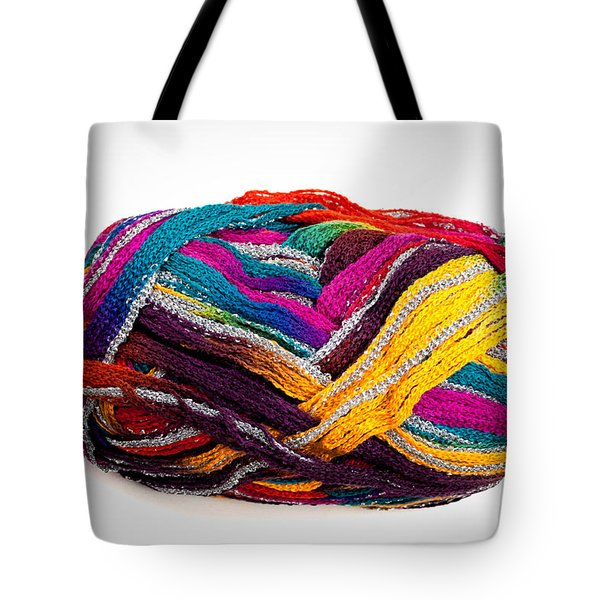 Colorful Yarn Tote Bag