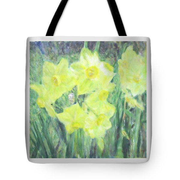 Colorful  Yellow Flowers Tote Bag