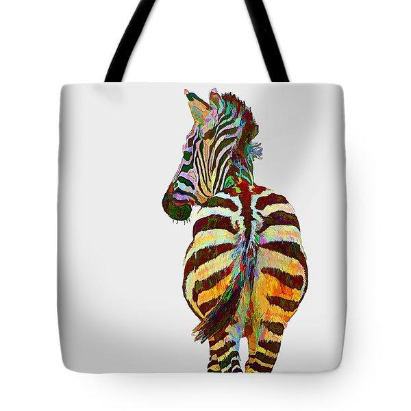 Colorful Zebra Tote Bag