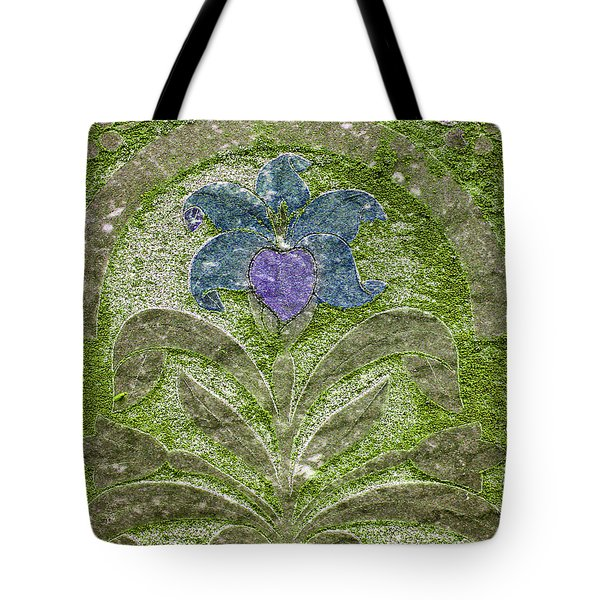 Colorized Moss Covered Gravestone  Tote Bag by Jean Noren