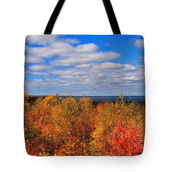 Colors Above Lake Superior Tote Bag