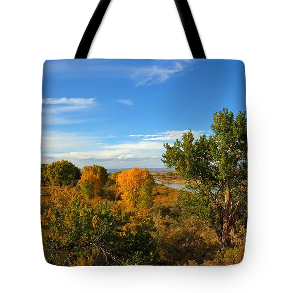 Colors Along The Colorado Tote Bag by Bob Hislop