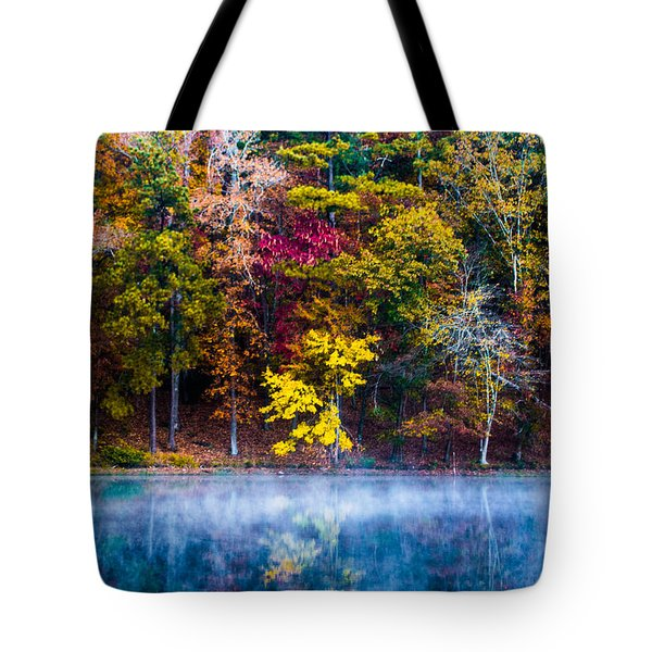 Colors In Early Morning Fog Tote Bag by Parker Cunningham