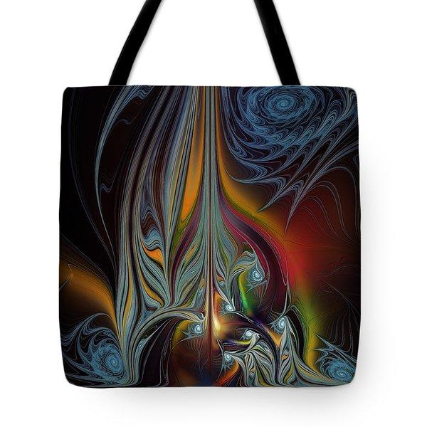 Colors In Motion-fractal Art Tote Bag by Karin Kuhlmann
