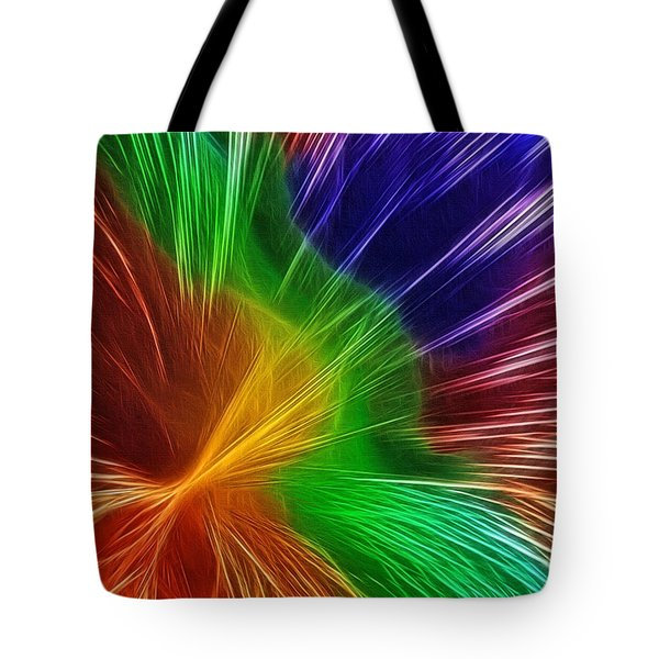 Colors Lines And Textures Tote Bag by Kaye Menner