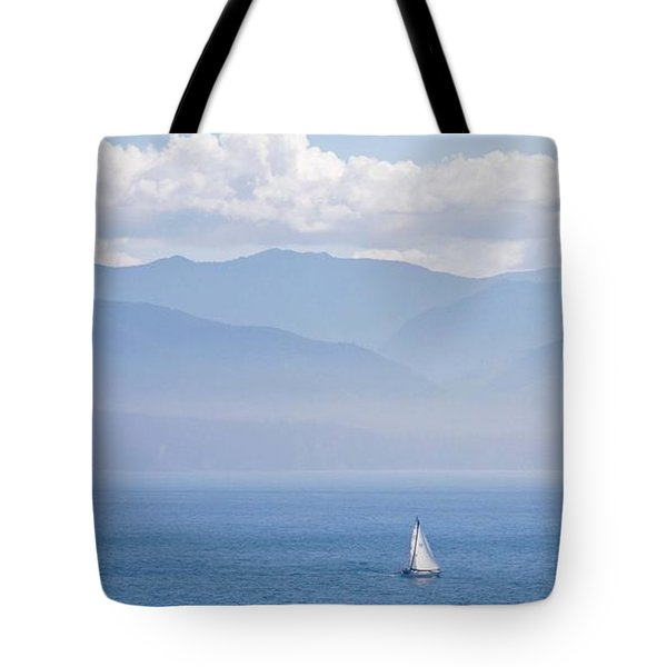 Colors Of Alaska - Sailboat And Blue Tote Bag
