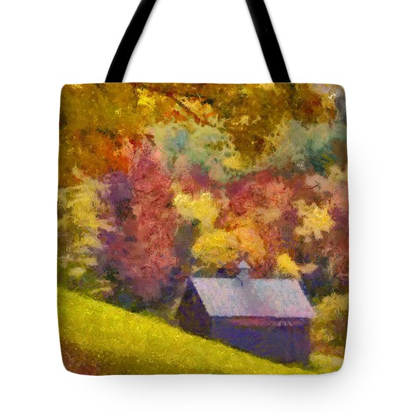 Tote Bag featuring the painting Colors Of October by Elizabeth Coats