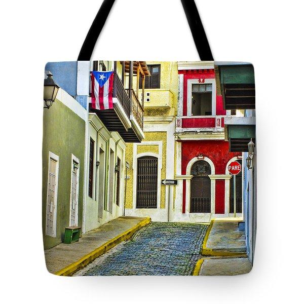 Colors Of Old San Juan Puerto Rico Tote Bag