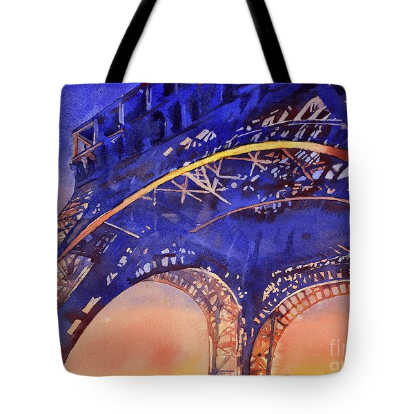 Colors Of Paris- Eiffel Tower Tote Bag by Ryan Fox
