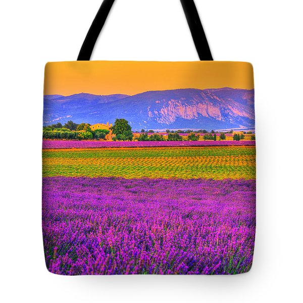 Colors Of Provence Tote Bag by Midori Chan