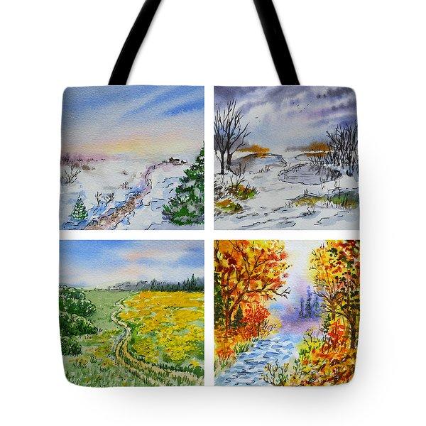 Colors Of Russia Four Seasons Tote Bag by Irina Sztukowski