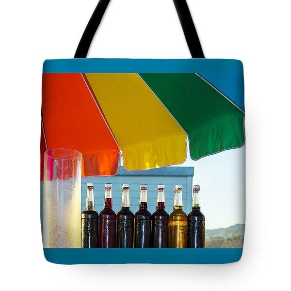 Colors Of Santa Monica Beach Tote Bag by Ben and Raisa Gertsberg