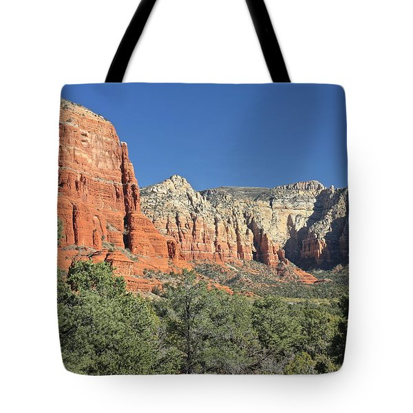 Tote Bag featuring the photograph Colors Of Sedona by Penny Meyers