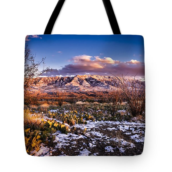 Colors Of Winter Tote Bag by Mark Myhaver