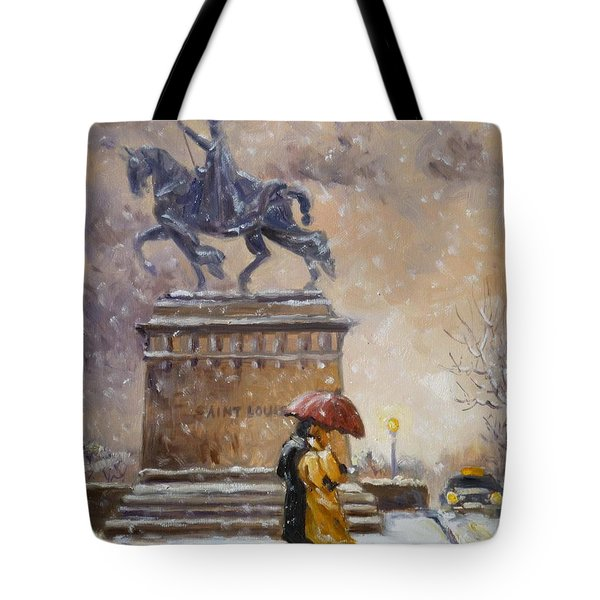 Colors Of Winter - Saint Louis Tote Bag