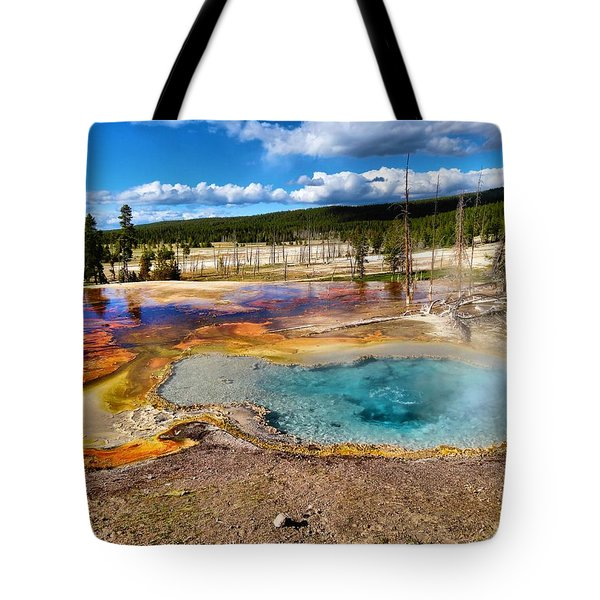 Colors Of Yellowstone National Park Tote Bag