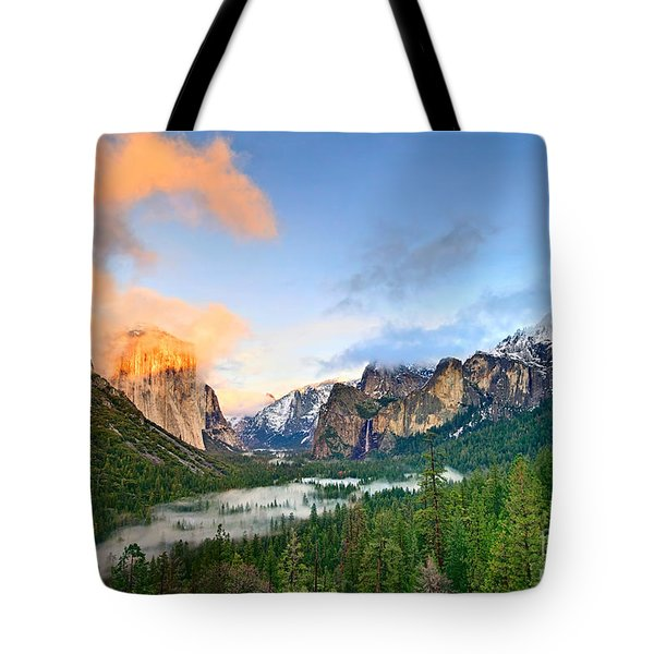 Colors Of Yosemite Tote Bag by Jamie Pham