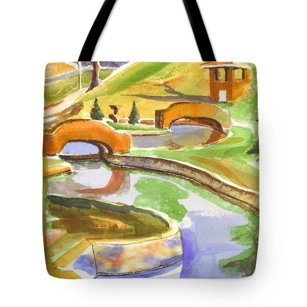 Colors On A Cloudy Day II Tote Bag by Kip DeVore