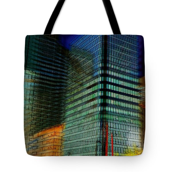 Tote Bag featuring the digital art Colors by Stuart Turnbull