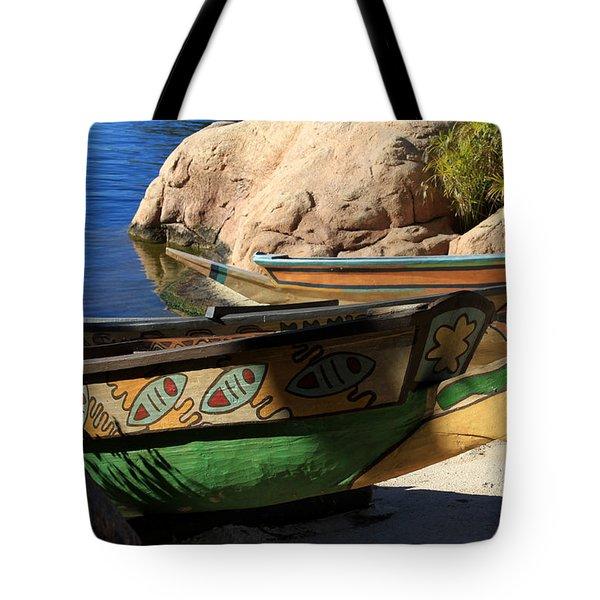 Colorul Canoe Tote Bag by Chris Thomas