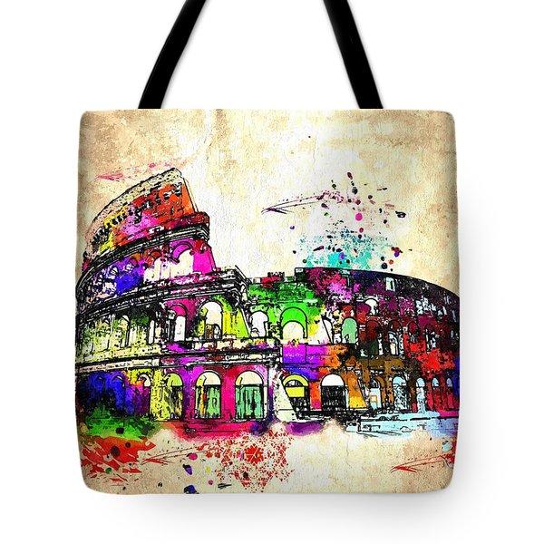 Colosseo Grunge  Tote Bag by Daniel Janda