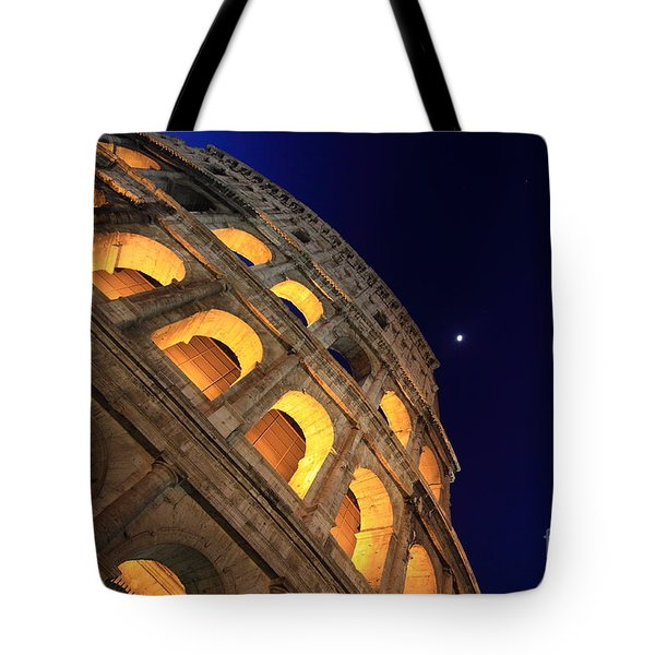 Colosseum At Night Tote Bag by Stefano Senise