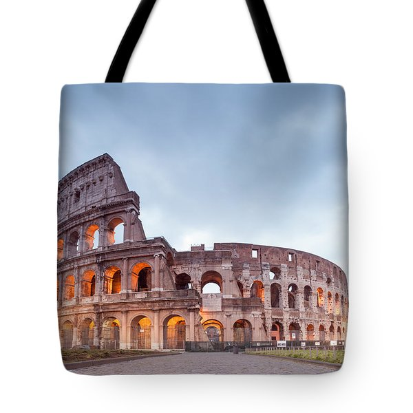 Colosseum At Sunrise Rome Italy Tote Bag