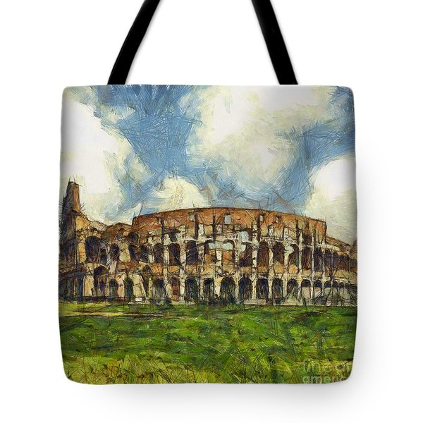 Colosseum Pencil Tote Bag by Sophie McAulay
