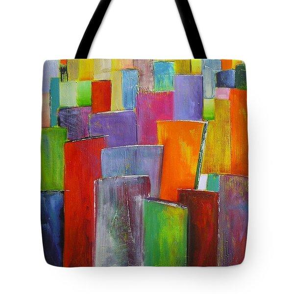 Colour Block 3 Painting Tote Bag