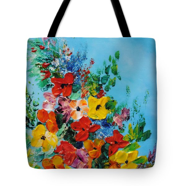 Colour Of Spring Tote Bag by Teresa Wegrzyn