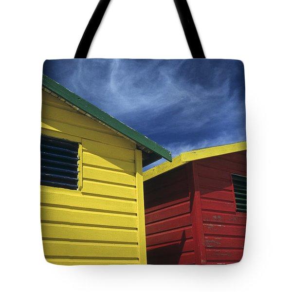 Coloured Beach Huts Tote Bag