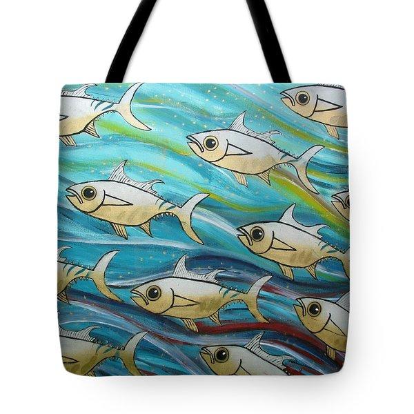 Coloured Water Fish Tote Bag