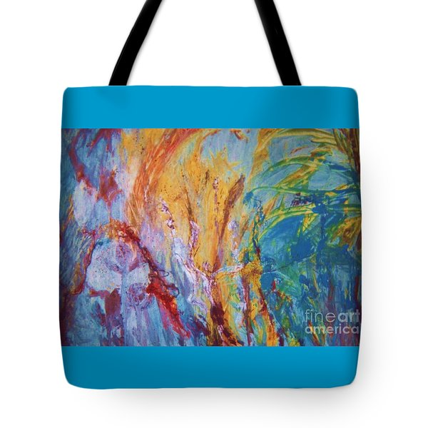 Colourful Abstract Tote Bag by Ann Fellows