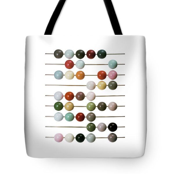 Colourful Beads On Metal Rods Tote Bag