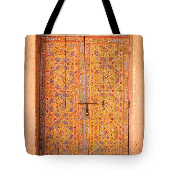 Colourful Entrance Door Sale Rabat Morocco Tote Bag by Ralph A  Ledergerber-Photography