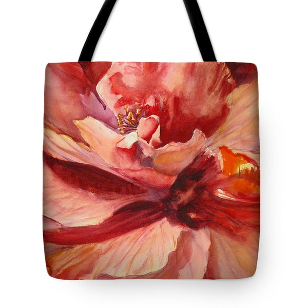 Colourful Hibiscus Tote Bag by Mohamed Hirji