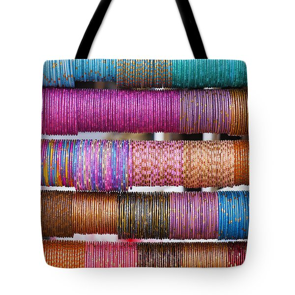 Colourful Indian Bangles Tote Bag by Tim Gainey
